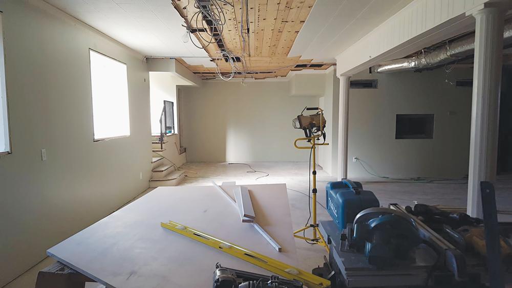 Beginning construction on the Fellowship Hall