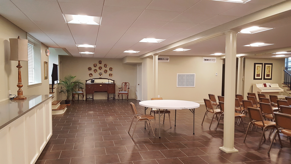 Remodeled Fellowship Hall