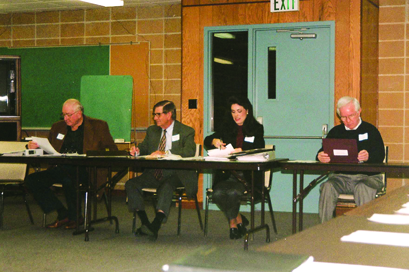 David Crawford, Billy Joe Rish, Terri Turner 1996 Fall UM Foundation Board Meeting